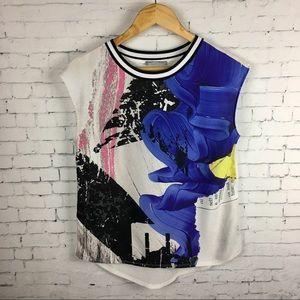Zara Printed Sleeveless Blouse